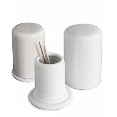 Порцеланова поставка за клечки за зъби с капаче 4x4xh7см  (5660)ZD - Китайски порцелан