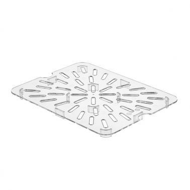Поликарбонатна дренажна решетка 1/2 25,9х19,9х1,5см PC-(GNPS-12) - Horecano