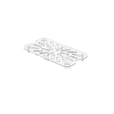 Поликарбонатна дренажна решетка 1/4 20,8х10,5х1,4см PC-(GNPS-14) - Horecano