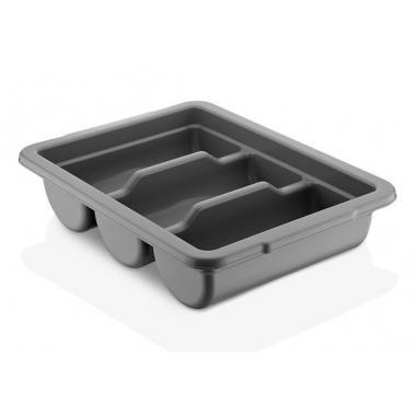 Пластмасова кутия за прибори с 3 разделения сива 40x29xh10см (GK-03) - Plast Port
