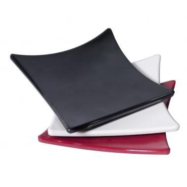 Меламинова чинийка квадратна черна  8x8x1см AN-(K-2511) (M) - Alkan