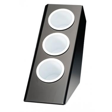 Поликарбонатна стойка за прибори вертикална малка черна 14,5x27x28,5см. (ZCP 644-3)AN - Alkan