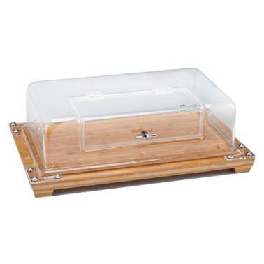 Акрилен контейнер с дървена подложка AN-(ZCP 534) - Alkan