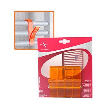 Комплект пластмасови закачалки за хавлии  4бр. оранжеви  PN-(M-B22-17)  - Primanova