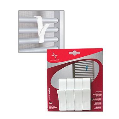 Комплект пластмасови закачалки за хавлии  4бр. бели  PN-(M-B22-01)  - Primanova