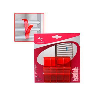 Комплект пластмасови закачалки за хавлии  4бр. червени  PN-(M-B22-18)  - Primanova