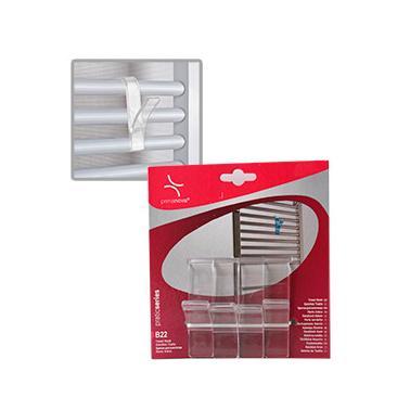 Комплект пластмасови закачалки за хавлии  4бр. прозрачни PN-(M-B22-16)  - Primanova