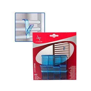 Комплект пластмасови закачалки за хавлии  4бр.  сини  PN-(M-B22-23)  - Primanova