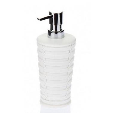 Пластмасов диспенсър  за сапун бял PALM PN-  (M-E57-01) - Primanova