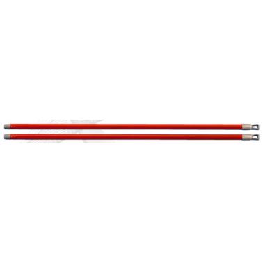 Пластмасова дръжка права червена 110см BE - Horecano