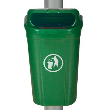 Пластмасов кош 60л. с окачване зелен (AX 60L) - UCAK