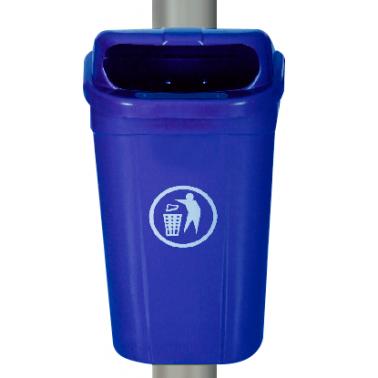 Пластмасов кош 60л. с окачване син (AX 60L) (75.3x43x32.2см) - UCAK