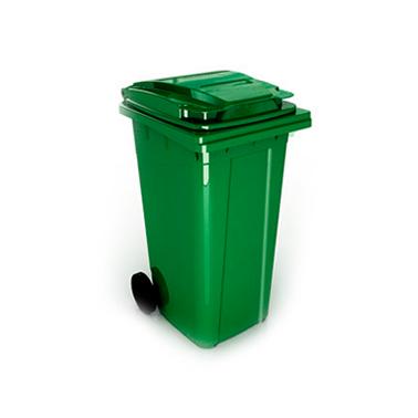 Пластмасов кош 80л. с колела зелен (U2X 80L) - UCAK