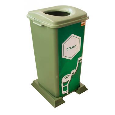 Пластмасов кош 70л. за разделно събиране зелен (70л) - UCAK