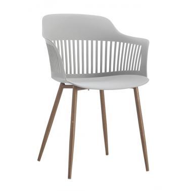 Стол 53х59х81.5см бял/дърво HORECANO-MIAMI-(HC-42392)