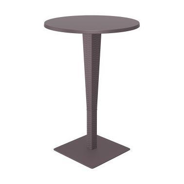 Бар маса - ратан с верзалитен кръгъл плот ф70x108см RIVA кафява SI-(886)- Siesta
