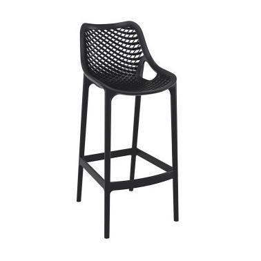Пластмасов бар стол AIR черен SI-(068)- Siesta