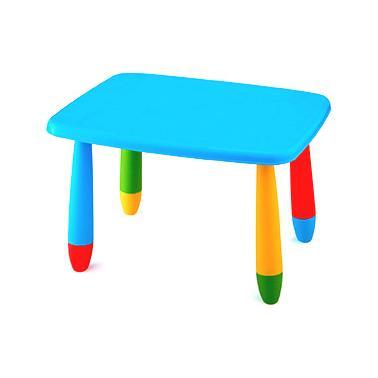 Пластмасова детска маса правоъгълна 72,5x57см синя   LXZ-102 - Horecano
