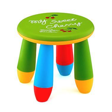 Пластмасово детско столче кръгло зелено LXS-302 - Horecano