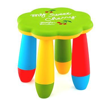 Детско пластмасово столче цвете зелено LXS-309 - Horecano