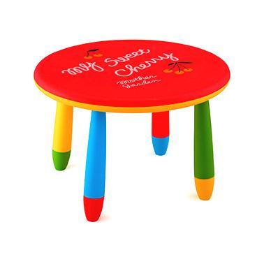 Пластмасова детска маса кръгла ф70см червенаLXZ-101 - Horecano