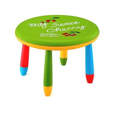 Пластмасова детска маса кръгла ф70см зелена  LXZ-101 - Horecano