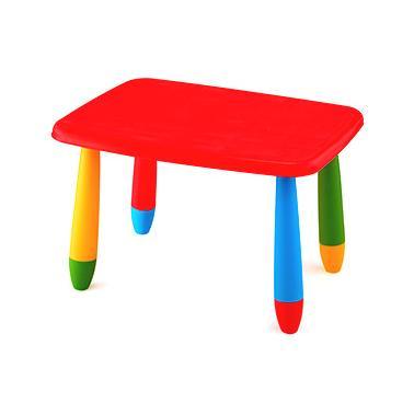 Пластмасова детска маса правоъгълна 72,5x57см червенаLXZ-102 - Horecano
