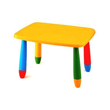 Пластмасова детска маса правоъгълна 72,5x57см жълта  LXZ-102 - Horecano