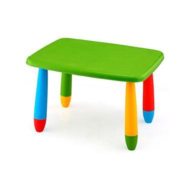 Пластмасова детска маса правоъгълна 72,5x57см зелена LXZ-102 - Horecano