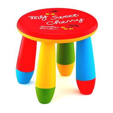 Пластмасово детско столче кръгло червеноLXS-302 - Horecano