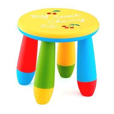 Пластмасово детско столче кръгло жълто LXS-302 - Horecano