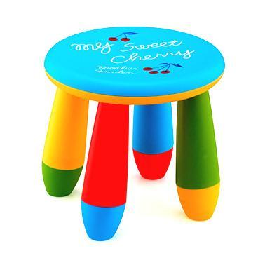 Пластмасово детско столче кръгло синьо LXS-302 - Horecano