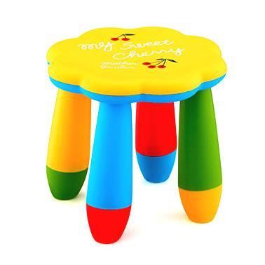 Детско пластмасово столче цвете жълто LXS-309 - Horecano