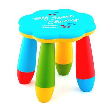 Детско пластмасово столче цвете синьо LXS-309 - Horecano