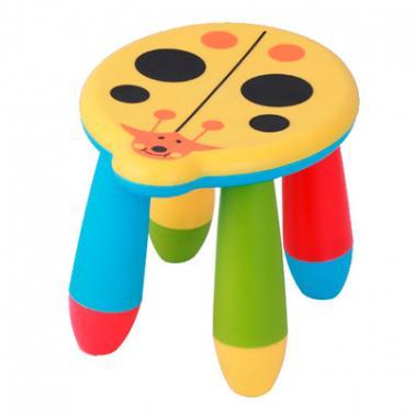 Детско пластмасово столче калинка жълто LXS-303 - Horecano