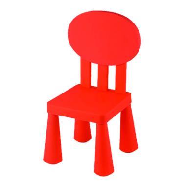 Пластмасово детско столче с овална облегалка червено LXY-201 - Horecano