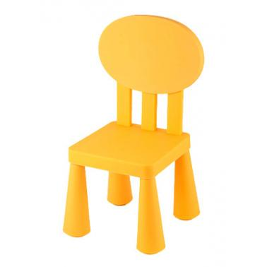 Пластмасово детско столче с овална облегалка жълтоLXY-201 - Horecano
