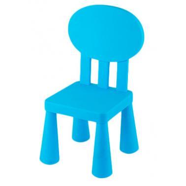 Пластмасово детско столче с овална облегалка синьо LXY-201 - Horecano