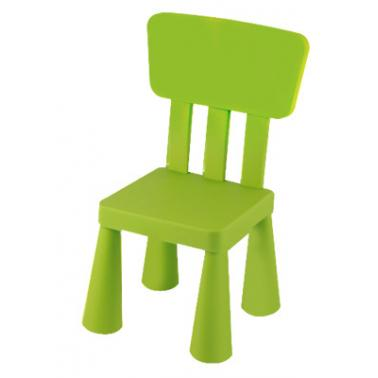 Пластмасово детско столче с облегалка зелено LXY-202 - Horecano
