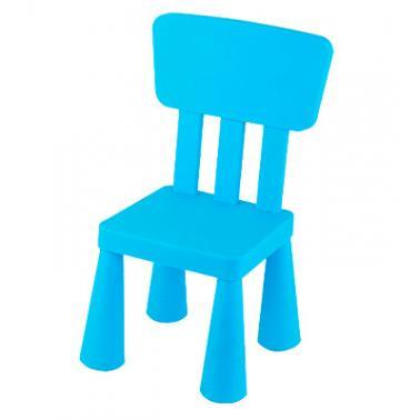 Пластмасово детско столче с  облегалка синьо   LXY-202 - Horecano