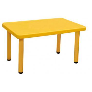 Пластмасова детска маса правоъгълна 122x61x48см жълтаLXZ-104 - Horecano