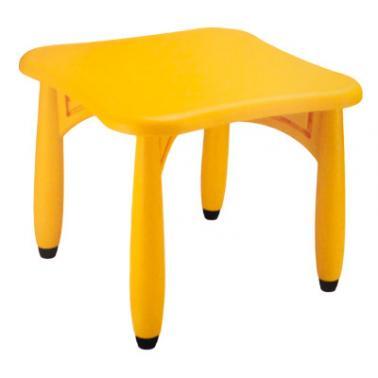 Пластмасова детска маса квадратна 62x62x52см жълта  LXZ-105 - Horecano