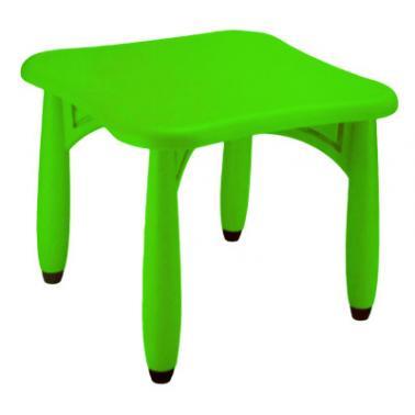 Пластмасова детска маса квадратна 62x62x52см зелена LXZ-105 - Horecano
