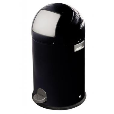 Кош  за отпадъци черен 20л с педал  ЕК-9638 BL - Horecano