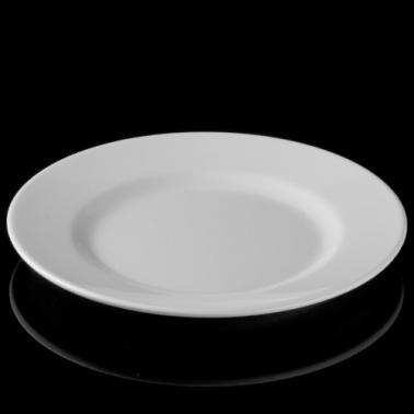 Меламинова чиния бяла  ф25см  (LOK25) - Horecano