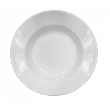 Меламинова чиния  дълбока  бяла ф20см (LOK121) - Horecano