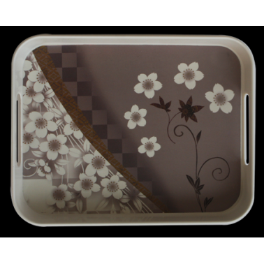 Меламинова табла с декор 26х33см. - FLOWER-1(750) - Horecano