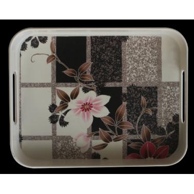 Меламинова табла с декор 26х33см.  -  FLOWER-2(750)  - Horecano