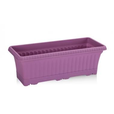 Пластмасова саксия за балкон 43x17xh14,5см 5,7л лилаво SERINOVA-(OB02)
