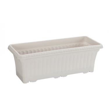 Пластмасова саксия за балкон 43x17xh14,5см5,7л бяла SERINOVA-(OB02)